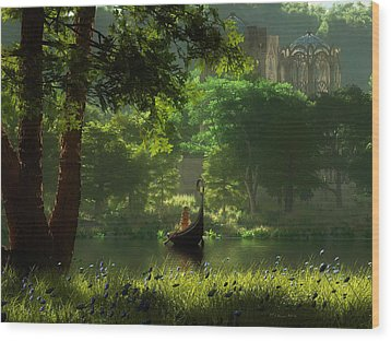 The Journey Wood Print by Melissa Krauss