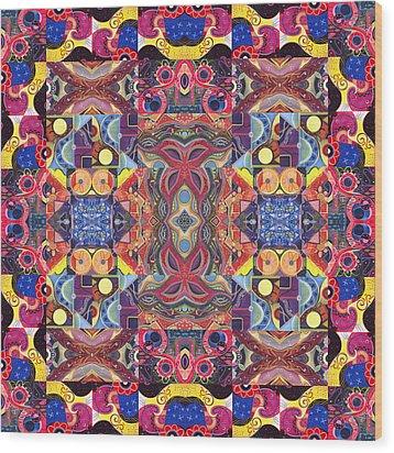 The Joy Of Design Mandala Series Puzzle 3 Arrangement 1 Wood Print by Helena Tiainen