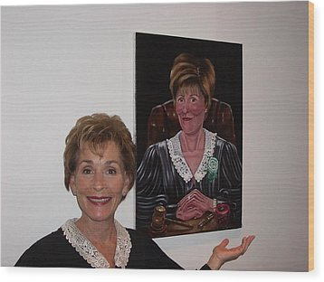 Wood Print featuring the painting The Judge Shows Appreciation by Susan Roberts
