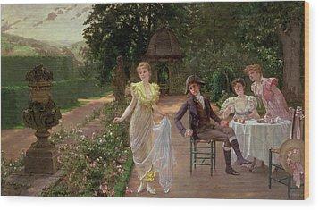 The Judgement Of Paris Wood Print by Hermann Koch