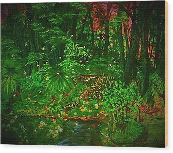 The Jungle Of Pennsylvania Wood Print by Alexandria Weaselwise Busen