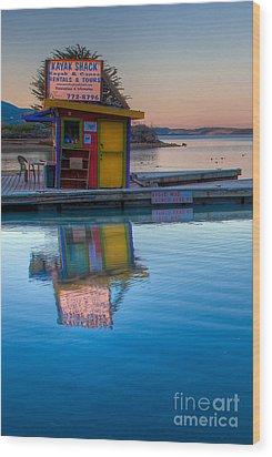 The Kayak Shack Morro Bay Wood Print