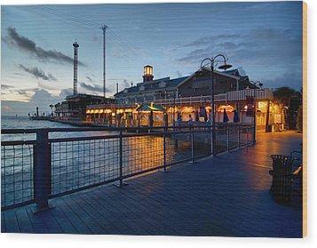 The Kemah Boardwalk Wood Print