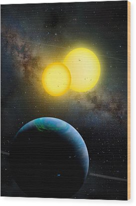 The Kepler 35 System Wood Print by Movie Poster Prints