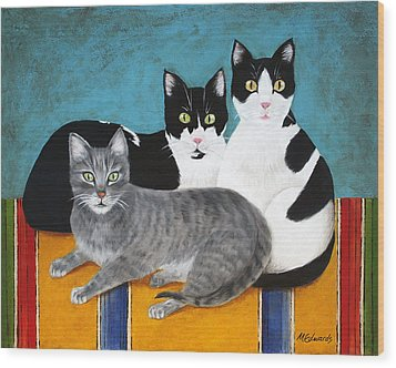 The Kids Wood Print by Marna Edwards Flavell