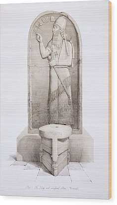 The King And Sacrificial Altar, Nimrud Wood Print by English School