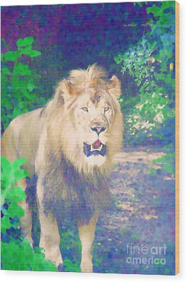Wood Print featuring the photograph The King by Diane Miller