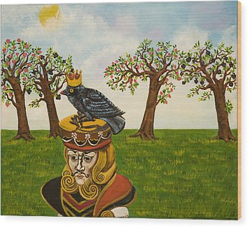 The King Of Hearts Wood Print by Susan Culver