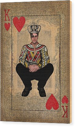 The King Of Hearts Wood Print