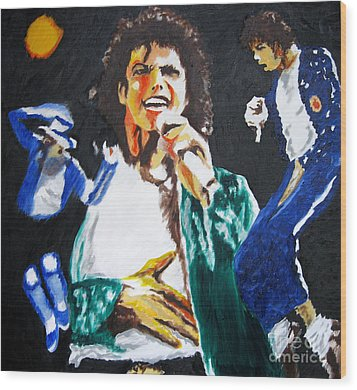 The King Of Pop Michael Jackson Wood Print by Ronald Young