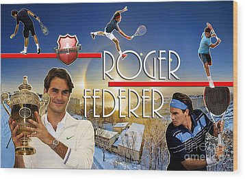 The King Roger Federer Wood Print by Christopher Finnicum
