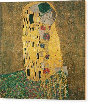 The Kiss Wood Print by Gustive Klimt