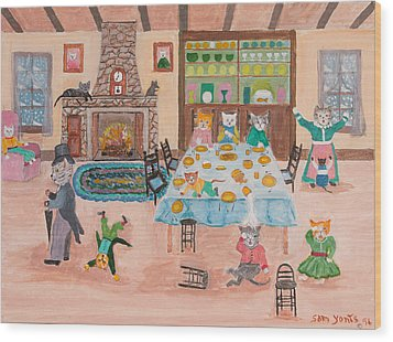 The Kittletons No School Today Wood Print by Sam Yonts