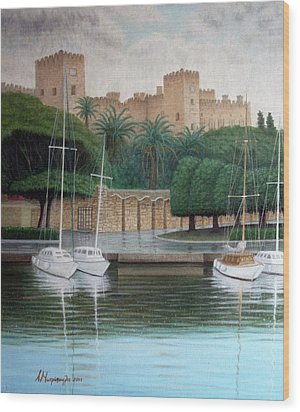 The Knights Castle Wood Print by Anastassios Mitropoulos