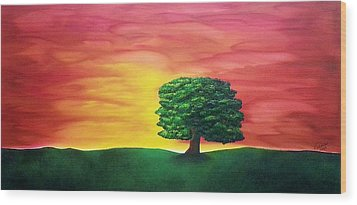 The Knowing Tree Wood Print
