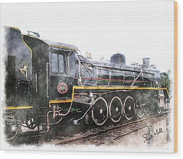 The Knysna Train Wood Print