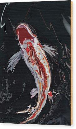 The Koi Wood Print by Rabi Khan