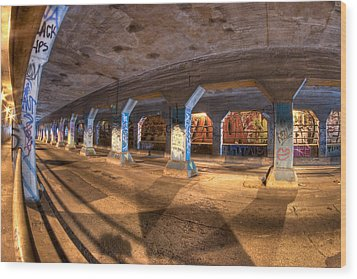 The Krog Street Tunnel Wood Print by Mark E Tisdale