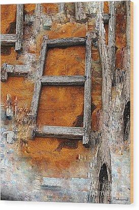 The Ladder  Wood Print by Makarand Purohit