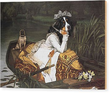 The Lady Of The Lake Wood Print by Jaime De Haas