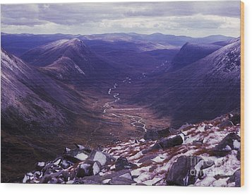 The Lairig Ghru - Cairngorm Mountains - Scotland Wood Print