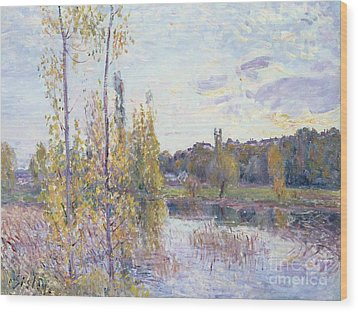 The Lake At Chevreuil Wood Print by Alfred Sisley