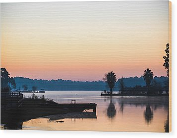 The Lake Before Sunrise Wood Print