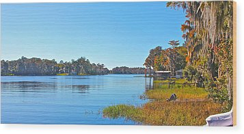 Wood Print featuring the photograph The Lake by Cyril Maza
