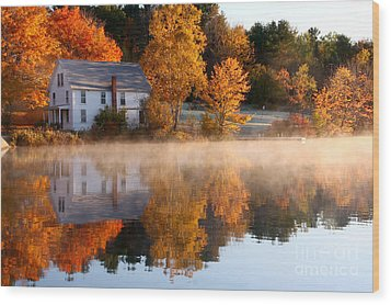 The Lake House Wood Print by Butch Lombardi