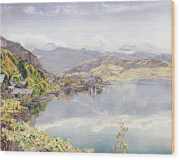The Lake Of Lucerne, Mount Pilatus Wood Print by John William Inchbold