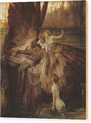 The Lament For Icarus Wood Print by Herbert James Draper