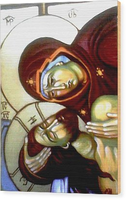 The Lamentation Wood Print by Sonya Grigorova