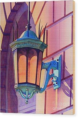 The Lamp On Goodwin Wood Print by Robert Hooper