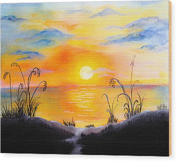 The Land Of The Dying Sun Wood Print by Nirdesha Munasinghe