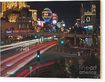 The Las Vegas Strip Wood Print by Eddie Yerkish