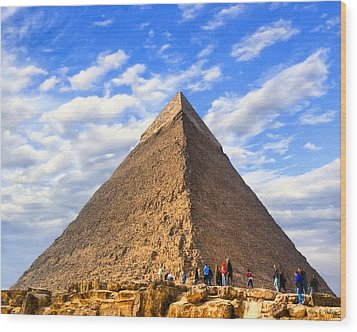 The Last Ancient Wonder - Egyptian Pyramid Wood Print by Mark E Tisdale