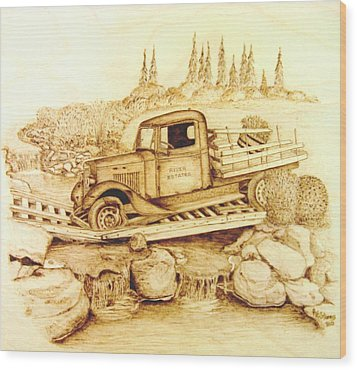 The Last Crossing Wood Print by Roger Storey
