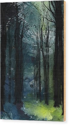 The Last Days Of Green Wood Print by Steve K