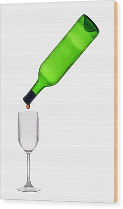 The Last Drop Wood Print by Olivier Le Queinec