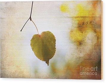 The Last Leaf Wood Print by Nishanth Gopinathan