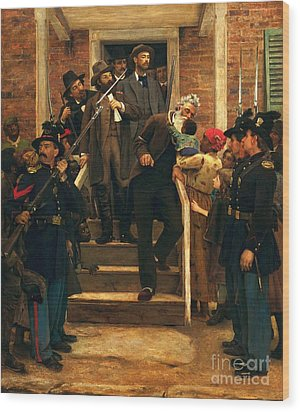 The Last Moments Of John Brown Wood Print by Pg Reproductions