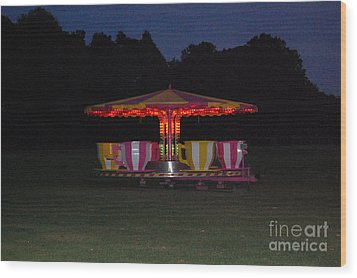 Wood Print featuring the photograph The Last Ride Of The Night by Linda Prewer