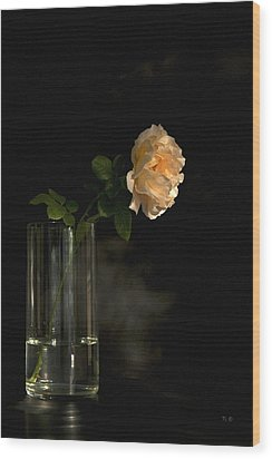 The Last Rose Of Summer Wood Print by Theresa Tahara