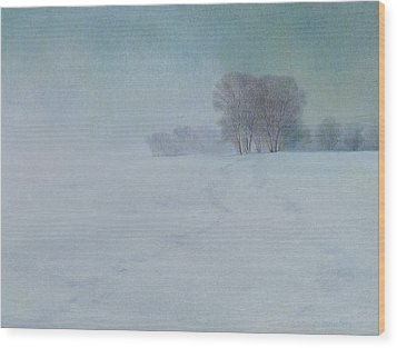 The Last Snow Wood Print by Lynn Bywaters