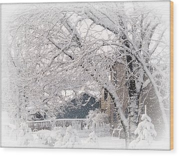 Wood Print featuring the photograph The Last Snow Storm by Kay Novy