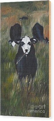 Wood Print featuring the painting The Last Straw by Carol Sweetwood