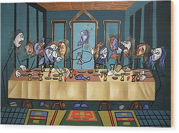 The Last Supper Wood Print by Anthony Falbo