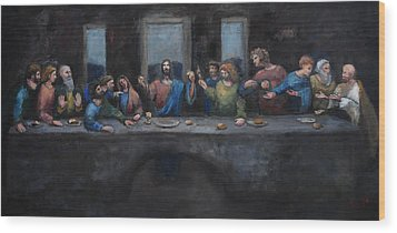The Last Supper Wood Print by Carole Foret
