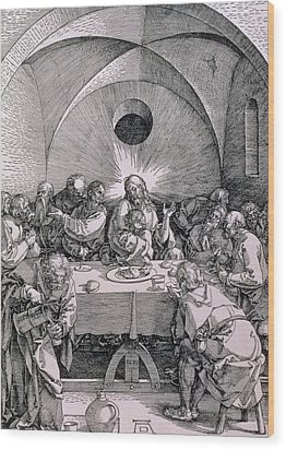The Last Supper From The 'great Passion' Series Wood Print by Albrecht Duerer