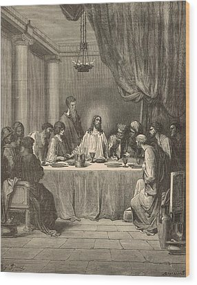 The Last Supper Wood Print by Antique Engravings